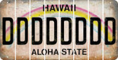 Hawaii D Cut License Plate Strips (Set of 8) LPS-HI1-004