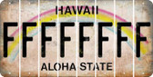 Hawaii F Cut License Plate Strips (Set of 8) LPS-HI1-006