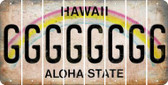 Hawaii G Cut License Plate Strips (Set of 8) LPS-HI1-007