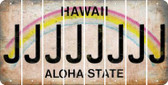 Hawaii J Cut License Plate Strips (Set of 8) LPS-HI1-010