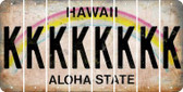 Hawaii K Cut License Plate Strips (Set of 8) LPS-HI1-011