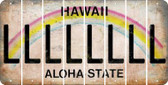 Hawaii L Cut License Plate Strips (Set of 8) LPS-HI1-012