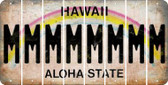 Hawaii M Cut License Plate Strips (Set of 8) LPS-HI1-013