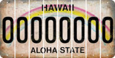 Hawaii 0 Cut License Plate Strips (Set of 8) LPS-HI1-027