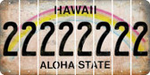 Hawaii 2 Cut License Plate Strips (Set of 8) LPS-HI1-029