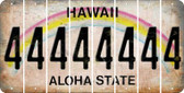 Hawaii 4 Cut License Plate Strips (Set of 8) LPS-HI1-031