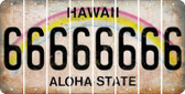 Hawaii 6 Cut License Plate Strips (Set of 8) LPS-HI1-033