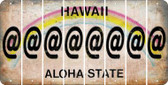 Hawaii ASPERAND Cut License Plate Strips (Set of 8) LPS-HI1-039