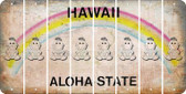 Hawaii BABY GIRL Cut License Plate Strips (Set of 8) LPS-HI1-067