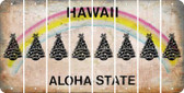 Hawaii CHRISTMAS TREE Cut License Plate Strips (Set of 8) LPS-HI1-077