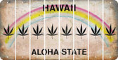Hawaii POT LEAF Cut License Plate Strips (Set of 8) LPS-HI1-090