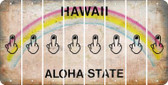 Hawaii MIDDLE FINGER Cut License Plate Strips (Set of 8) LPS-HI1-091