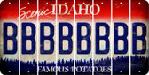 Idaho B Cut License Plate Strips (Set of 8) LPS-ID1-002