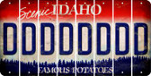 Idaho D Cut License Plate Strips (Set of 8) LPS-ID1-004