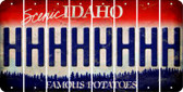 Idaho H Cut License Plate Strips (Set of 8) LPS-ID1-008