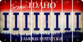 Idaho I Cut License Plate Strips (Set of 8) LPS-ID1-009