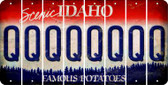 Idaho Q Cut License Plate Strips (Set of 8) LPS-ID1-017