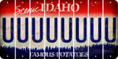 Idaho U Cut License Plate Strips (Set of 8) LPS-ID1-021