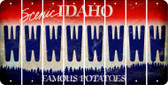 Idaho W Cut License Plate Strips (Set of 8) LPS-ID1-023