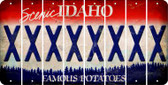 Idaho X Cut License Plate Strips (Set of 8) LPS-ID1-024