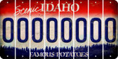 Idaho 0 Cut License Plate Strips (Set of 8) LPS-ID1-027