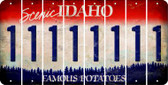 Idaho 1 Cut License Plate Strips (Set of 8) LPS-ID1-028