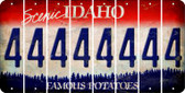Idaho 4 Cut License Plate Strips (Set of 8) LPS-ID1-031