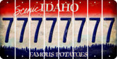 Idaho 7 Cut License Plate Strips (Set of 8) LPS-ID1-034