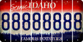 Idaho 8 Cut License Plate Strips (Set of 8) LPS-ID1-035