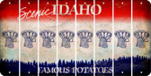 Idaho BASKETBALL HOOP Cut License Plate Strips (Set of 8) LPS-ID1-058