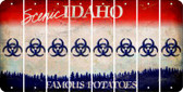 Idaho BIO HAZARD Cut License Plate Strips (Set of 8) LPS-ID1-084