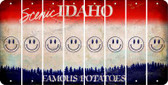 Idaho SMILEY FACE Cut License Plate Strips (Set of 8) LPS-ID1-089