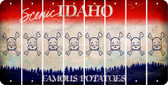 Idaho SKULL Cut License Plate Strips (Set of 8) LPS-ID1-092