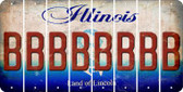 Illinois B Cut License Plate Strips (Set of 8) LPS-IL1-002