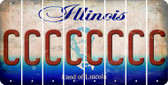 Illinois C Cut License Plate Strips (Set of 8) LPS-IL1-003