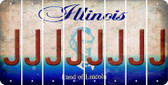 Illinois J Cut License Plate Strips (Set of 8) LPS-IL1-010