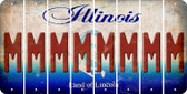 Illinois M Cut License Plate Strips (Set of 8) LPS-IL1-013