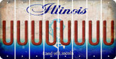Illinois U Cut License Plate Strips (Set of 8) LPS-IL1-021