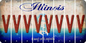 Illinois V Cut License Plate Strips (Set of 8) LPS-IL1-022