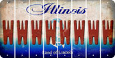 Illinois W Cut License Plate Strips (Set of 8) LPS-IL1-023