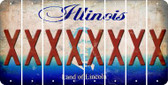 Illinois X Cut License Plate Strips (Set of 8) LPS-IL1-024