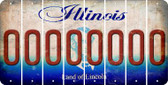 Illinois 0 Cut License Plate Strips (Set of 8) LPS-IL1-027