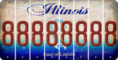Illinois 8 Cut License Plate Strips (Set of 8) LPS-IL1-035