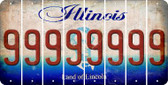 Illinois 9 Cut License Plate Strips (Set of 8) LPS-IL1-036