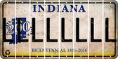 Indiana L Cut License Plate Strips (Set of 8) LPS-IN1-012