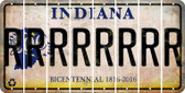 Indiana R Cut License Plate Strips (Set of 8) LPS-IN1-018
