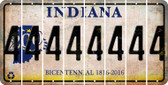 Indiana 4 Cut License Plate Strips (Set of 8) LPS-IN1-031