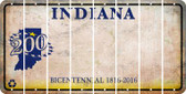 Indiana BLANK Cut License Plate Strips (Set of 8) LPS-IN1-037