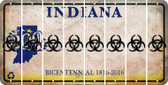 Indiana BIO HAZARD Cut License Plate Strips (Set of 8) LPS-IN1-084