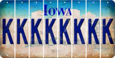 Iowa K Cut License Plate Strips (Set of 8) LPS-IA1-011